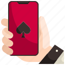 poker, electronics, casino, gaming, gambling, bet, online icon