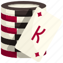 poker, chip, casino, gaming, gambling, coin, bet icon