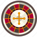 bet, casino, gambling, gaming, luck, roulette icon
