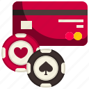 card, credit, poker, casino, currency, bet, chip icon