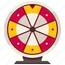 bet, entertainment, fortune, gambling, gaming, roulette, wheel icon