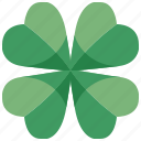 botanical, clover, four, irish, leaf, luck, shamrock icon