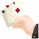 card, diamonds, poker, casino, gaming, game, entertainment icon