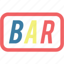 bar, casino, sign icon