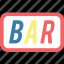 bar, casino, sign