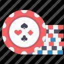 chips, gambling, money icon