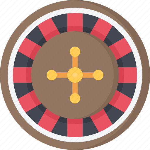 betting, casino, gambling, games, roulette, wheel icon