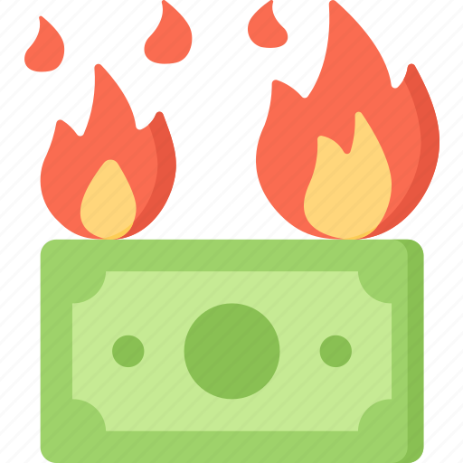 Betting, burning, casino, fire, gambling, money icon - Download on Iconfinder