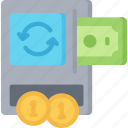 betting, casino, exchange, gambling, machine, money, notes icon