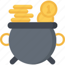 betting, casino, gambling, gold, money, of, pot icon