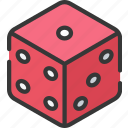 betting, casino, dice, gambling, lucky icon