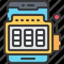 betting, casino, gambling, machine, mobile games, phone, slot icon
