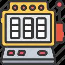 betting, casino, gambling, games, machine, slot icon
