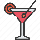 betting, casino, drink, gambling, martini icon