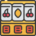 betting, casino, gambling, games, machine, slot icon