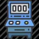 betting, casino, fruit, gambling, games, machine icon