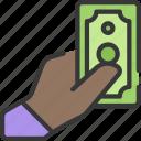 betting, casino, gambling, give, hand, money icon