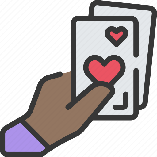 betting, cards, casino, gambling, give, hand icon