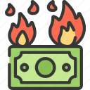 betting, burning, casino, fire, gambling, money icon