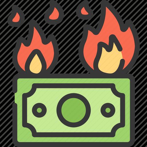 betting, burning, casino, fire, gambling, money icon
