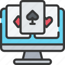 betting, card, casino, gambling, games, online, poker icon