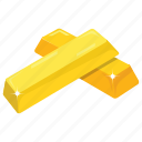 game bonus, gold asset, gold bricks, gold reserves, wealth icon