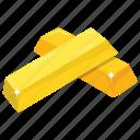 game bonus, gold asset, gold bricks, gold reserves, wealth icon