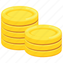 game bonus, gold asset, gold coins, gold reserves, wealth icon