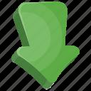 arrow, down arrow, game button, game controlling arrow, navigation arrow icon