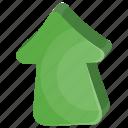arrow, game button, game controlling arrow, navigation arrow, up arrow icon