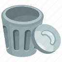 bin, delete, dustbin, game button, trash button icon