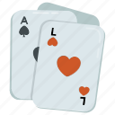 blackjack, card game, casino game, gambling, rummy icon