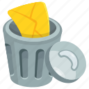 bin, delete files, dustbin, game button, trash bin icon