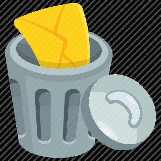 bin, delete files, dustbin, game button, trash bin icon