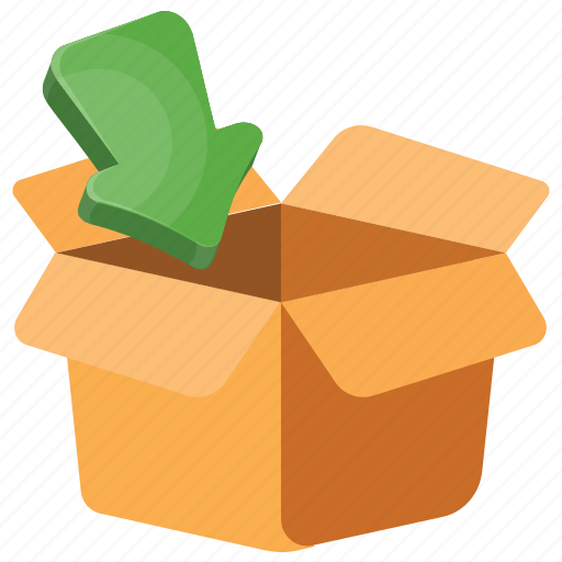 Box pack, cardboard box, cardboard box with arrow, opened box, parcel cardboard icon - Download on Iconfinder