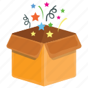 celebration, celebration package, game bonus, party, party poppers icon