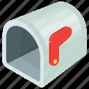 cartoon mailbox, empty mailbox, letterbox, mailbox, residential mailbox