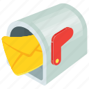 cartoon mailbox, letterbox, mailbox, residential mailbox icon