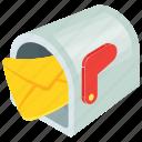 cartoon mailbox, letterbox, mailbox, residential mailbox