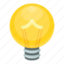 bright idea, bulb, bulb video game, idea symbol, light bulb icon