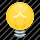 bright idea, bulb, bulb video game, idea symbol, light bulb icon