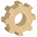 cog, cogwheel, gear, process symbol, pulley gear