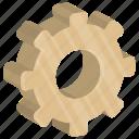 cog, cogwheel, gear, process symbol, pulley gear icon