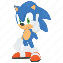 computer game, game character, sonic the hedgehog, supersonic, video game icon