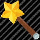 fairy stick, fairy wand, magic wand, star stick, stick with star icon
