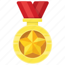 achievement, award, medal, prize, ribbon pendant