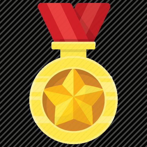 achievement, award, medal, prize, ribbon pendant icon