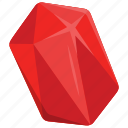 diamond, diamond mine game, gem, jewel, ruby icon