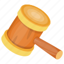 game icon, hammer clipart, judge hammer, mallet, wooden hammer