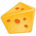 cheese, cheese clipart, dairy product, rat favorite food, yellow cheese icon